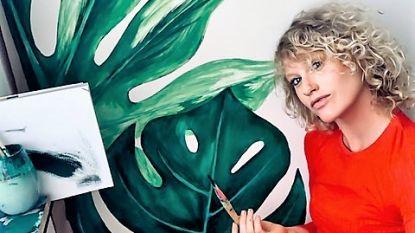"""De lockdown van SX-gezicht Stefanie Callebaut: """"Bijna zeven maanden zwanger! Tijd om een jungle te schilderen in de kinderkamer"""""""