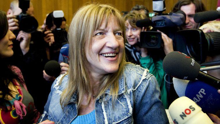 Lucia de Berk na haar vrijspraak in 2010. Beeld ANP