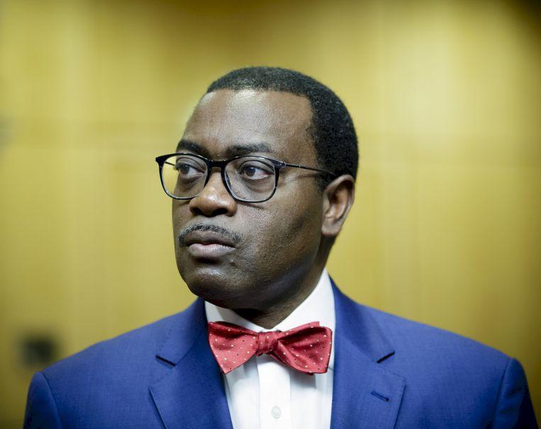 Akinwumi Adesina, president van de Afrikaanse Ontwikkelingsbank (AfDB). Beeld Inga Kjer/Getty