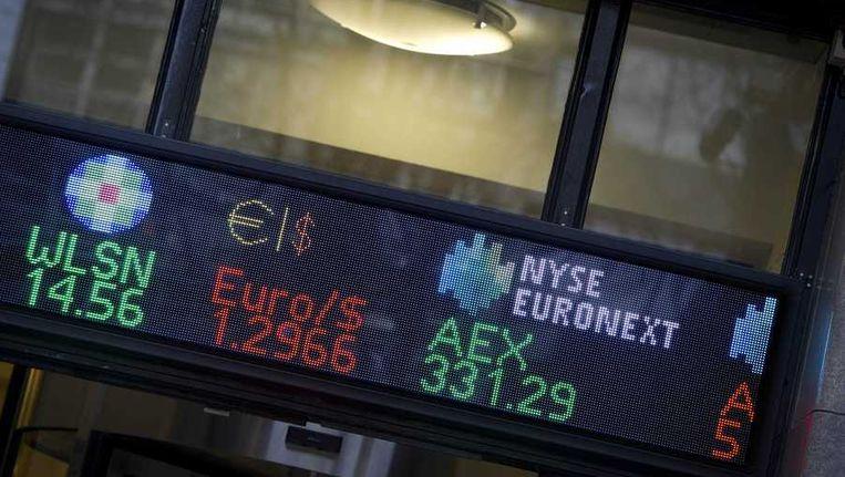 Het akkoord in Brussel over de verdere noodsteun aan Griekenland zorgde voor opluchting onder beleggers Beeld anp