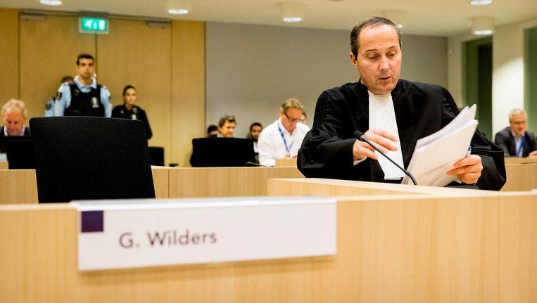 Advocaat Gert Jan Knoops in de rechtszaal van de rechtbank op Schiphol. Beeld anp