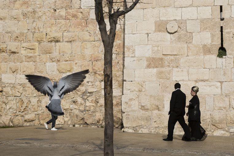 De historische stadsmuur van Jeruzalem. Beeld AP