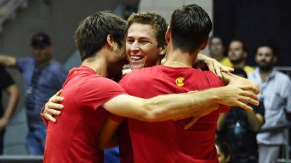 Belgische mannen kennen morgen tegenstander in finaleweek Davis Cup - Wickmayer in kwartfinale Shrewsbury