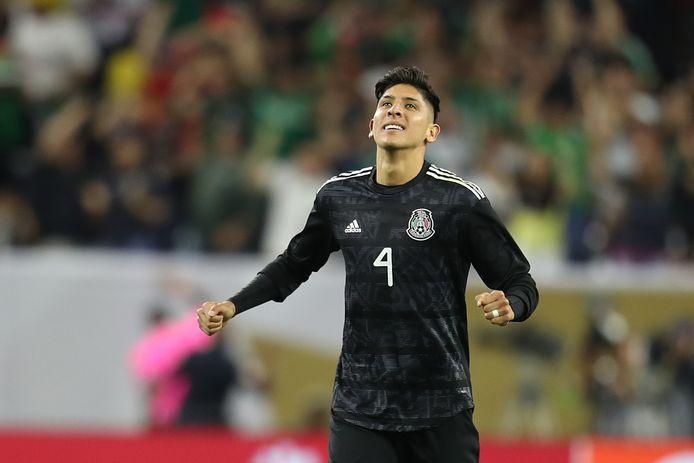 Edson Álvarez in het shirt van Mexico op de Gold Cup.