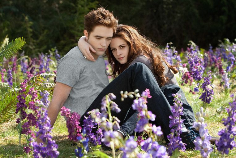 Robert en Kristen als Bella en Edward in 'Twilight'.