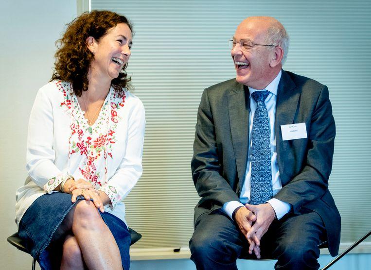 Femke Halsema met Gerrit Zalm, 2016.  Beeld ANP