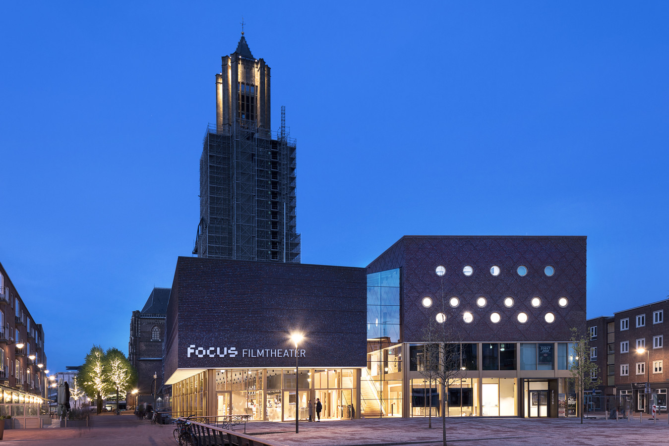 Het nieuwe Focus Filmtheater Arnhem aan het Audrey Hepburnplein.