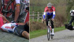 VIDEO. Van der Poel verkent daags na stevige valpartij parcours Ronde