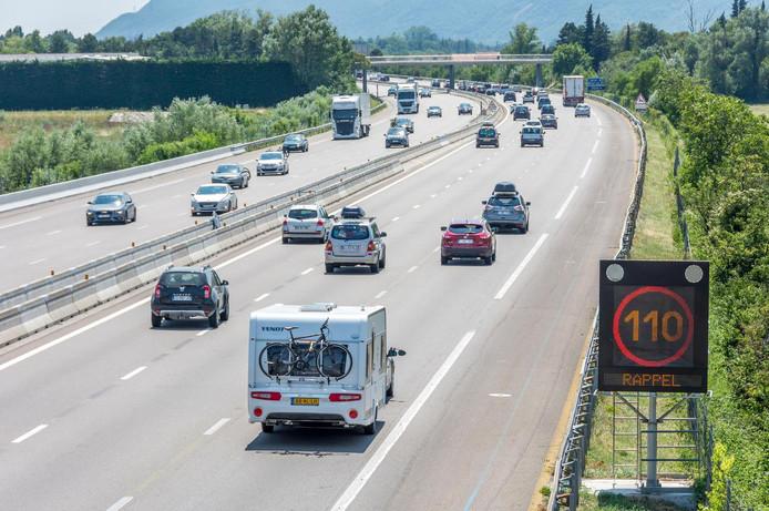 Verkeer op een snelweg in Frankrijk
