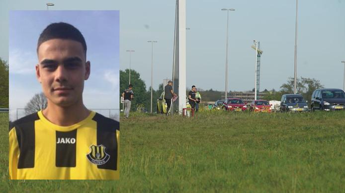 De spontane herdenking, vlakbij de plek van het dramatische ongeval langs de A1 bij Deventer. Ömer Dogan (inzet) is één van de vier slachtoffers.