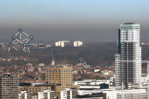 Slechte luchtkwaliteit in Brussel, archiefbeeld ter illustratie.