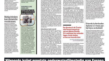Vilvoorde krijgt grootste onderwaterfilmstudio van Europa