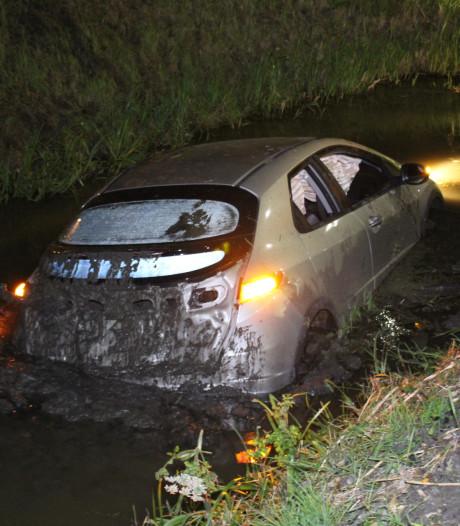Beschonken bestuurder rijdt op hoge snelheid water in langs Wateringseweg Poeldijk