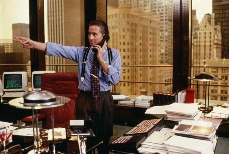 Michael Douglas in Wall Street Beeld