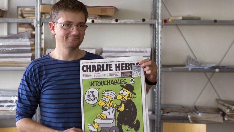 Vandaag werden spotprenten gepubliceerd van de profeet Mohammed door het Franse satirische tijdschrift Charlie Hebdo. Beeld ANP