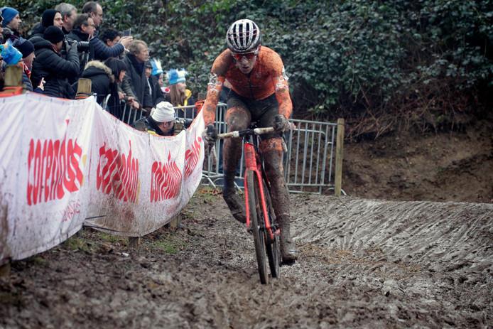 Ryan Kamp op weg naar de bronzen medaille.