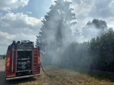Brandweer blust buitenbrand in Ruurlo