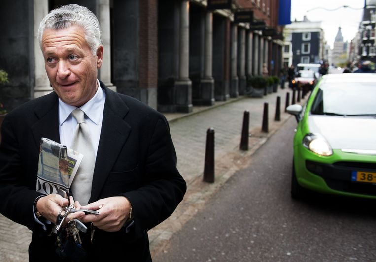 Moszkowicz arriveert in 2012 bij zijn kantoor in het centrum van Amsterdam, dat inmiddels leeg staat. Beeld anp