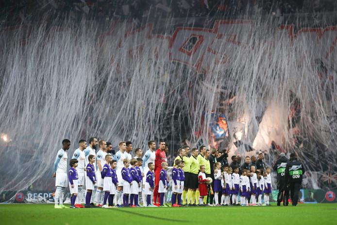 Sfeerbeeld voor Eintracht Frankfurt - Olympique Marseille in de Europa League afgelopen donderdag.