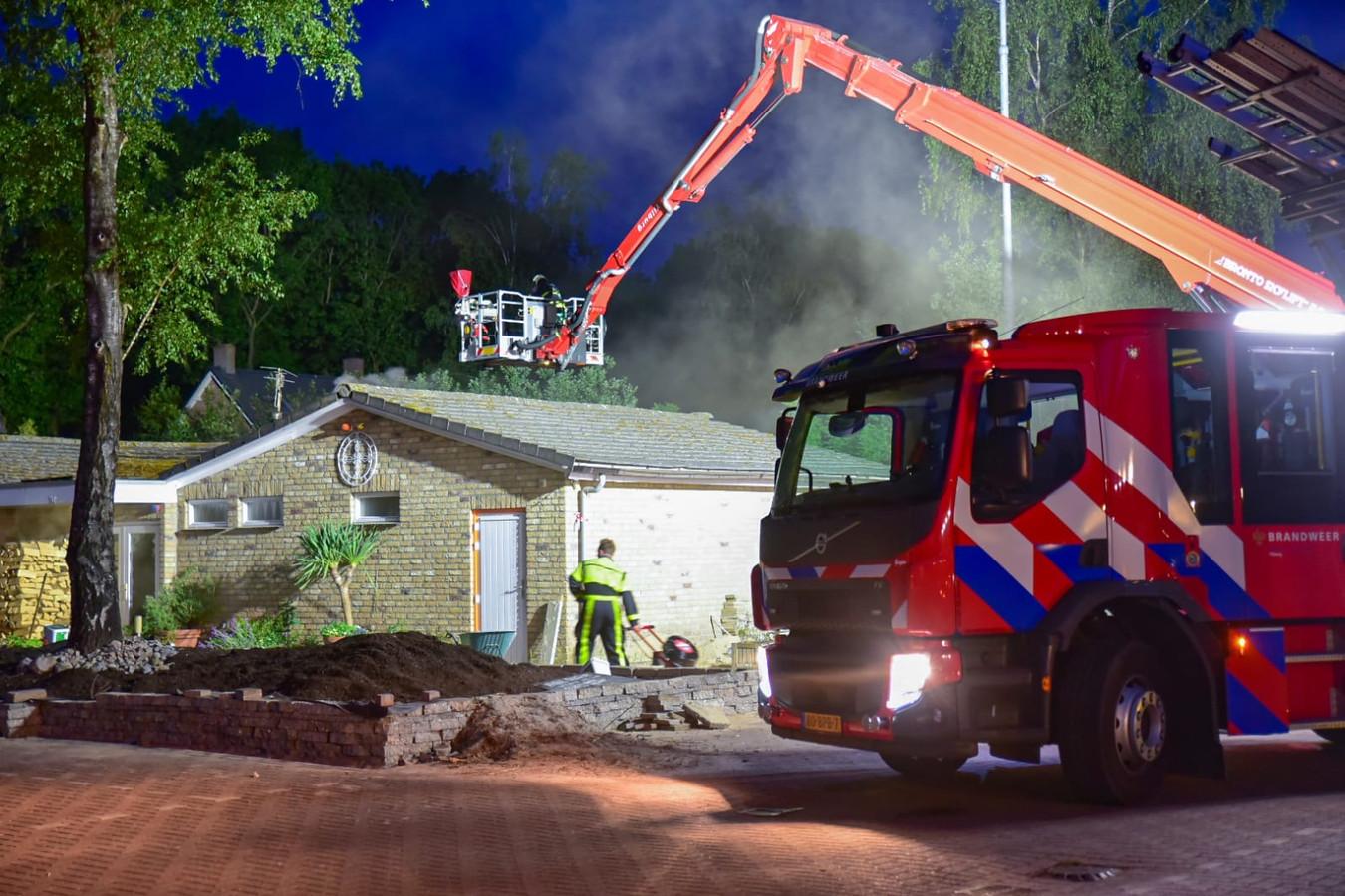 Brand bij Italiaans restaurant Giardino d'Italia in Tilburg.
