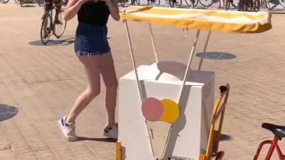 Een ijskarretje op de dijk, meer heeft Qmusic-presentatrice Marie niet nodig voor een gewéldige Keke Challenge!