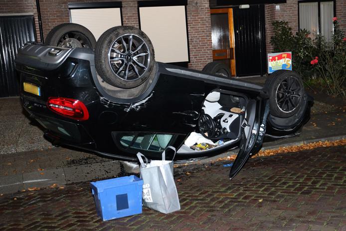 De vrouw raakte niet dusdanig gewond dat ze naar het ziekenhuis moest.
