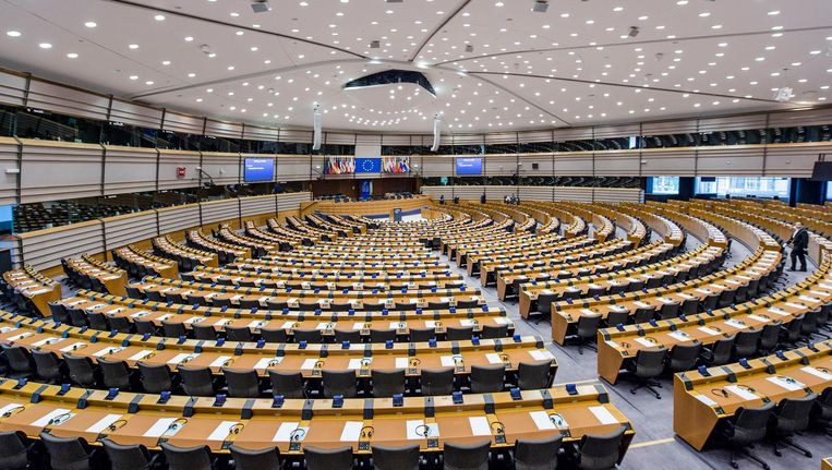 Europees Parlement, Brussel. Beeld anp