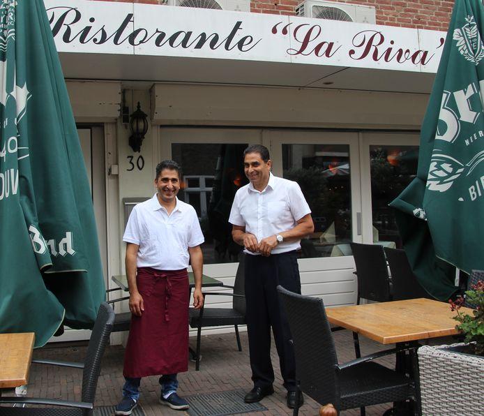 Youssef Ihab (links) en Kamilio Ghali van Italiaans restaurant La Riva starten samen met Makram Lami het Mediterraans restaurant Mariposa.