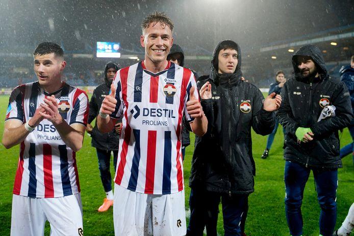 Paul Gladon na zijn belangrijke treffer tegen FC Utrecht.