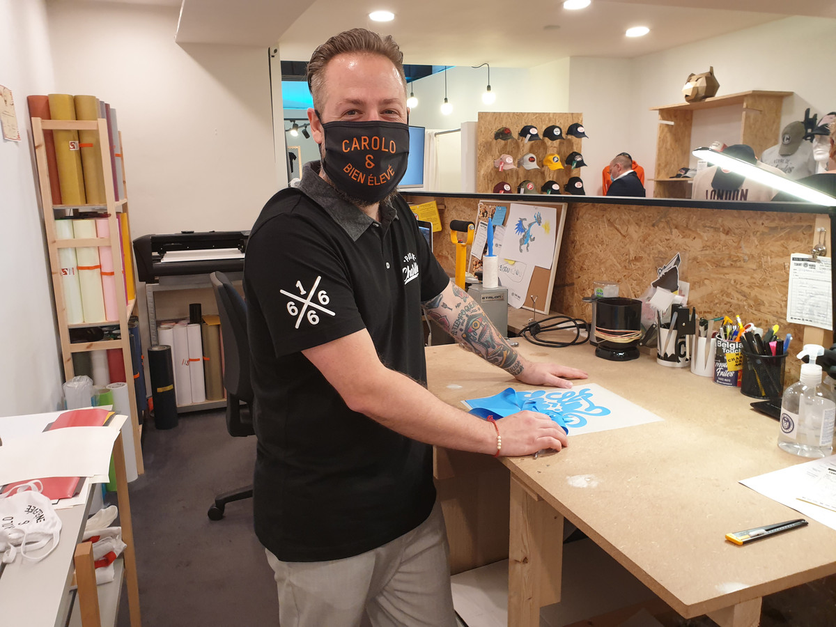 Nicolas Géa, le gérant de T-Shirt Mania à Charleroi