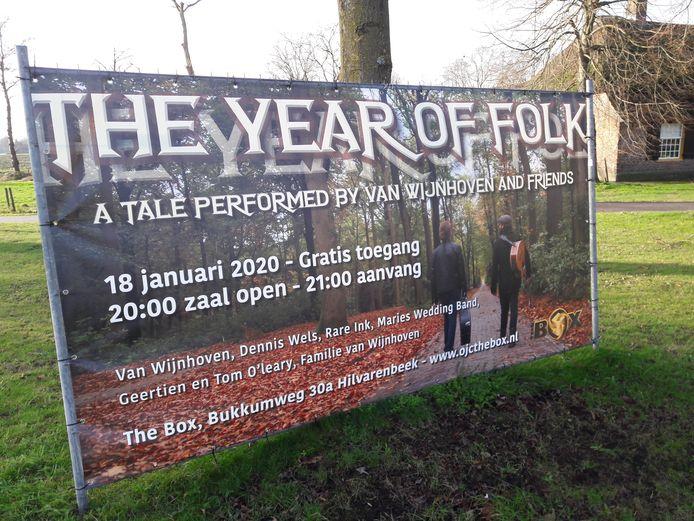 Van Wijnhoven brengt zaterdag 'The year of folk' in The Box in Hilvarenbeek.