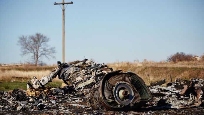 Onderdelen van de gecrashte vlucht MH17 van Malaysia Airlines in het oosten van Oekraïne, 100 dagen na het ongeluk.