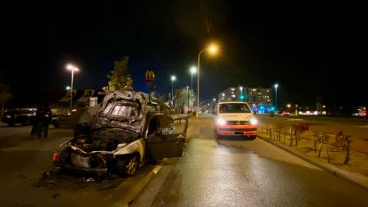 Motor van BMW vat vuur tijdens het rijden