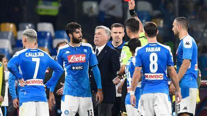 Mertens moet de punten delen met Atalanta, Ancelotti met rood weggestuurd na woede-uitbarsting over controversiële fase