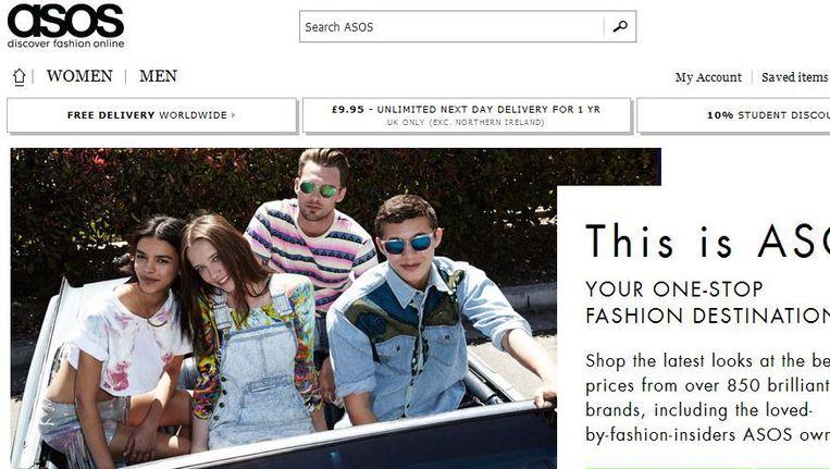 Screenshot van de website van Asos. Beeld asos.com