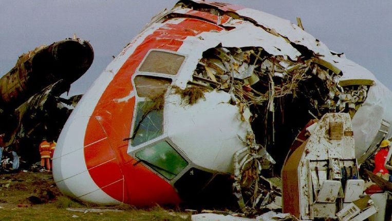 De cockpit van het Martinair vliegtuig dat in 1992 crashte in de Portugese stad Faro, waarbij ruim 50 mensen om het leven kwamen. Beeld anp