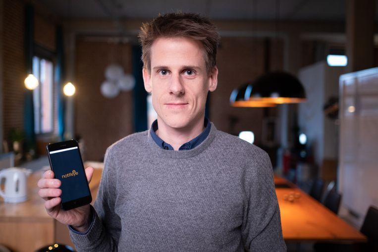 MECHELEN Sander Lesage ontwikkelde de app Notifeye