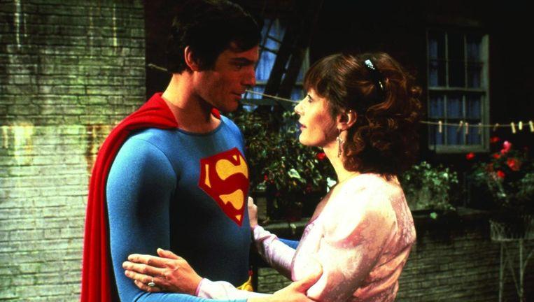 Christopher Reeve en Margot Kidder in Superman IV. Beeld .