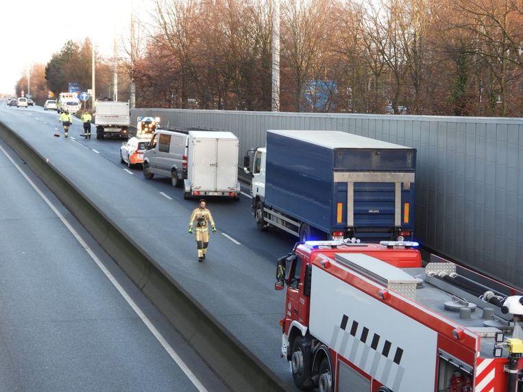 Het ongeval langs de N31 zorgde voor de nodige verkeershinder