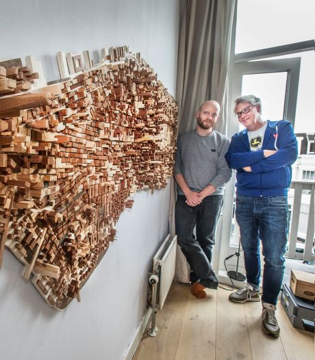 Gekkenwerk? Diederick Kraaijeveld bouwde Manhattan uit 6000 stukjes sloophout