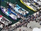 Koning zeilt mee bij Volvo Ocean Race in Scheveningen