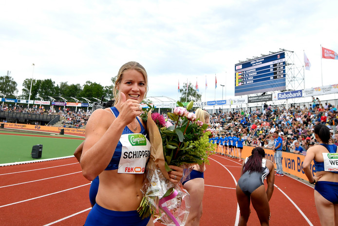 Dafne Schippers won vorig jaar de finale van de 100 meter in Hengelo.
