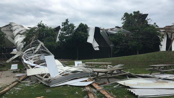 Het dak van de Breugelhoeve werd volledig vernield