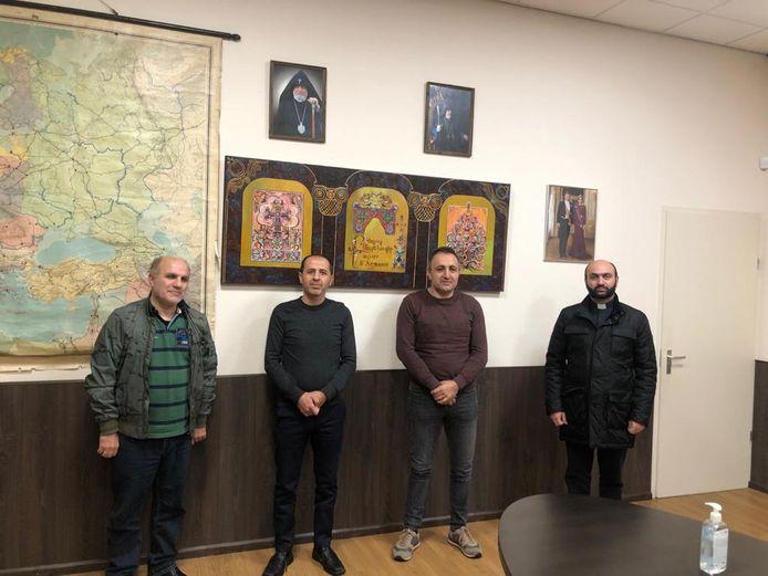 Vertegenwoordigers Aramese Federatie op bezoek in Almelo.