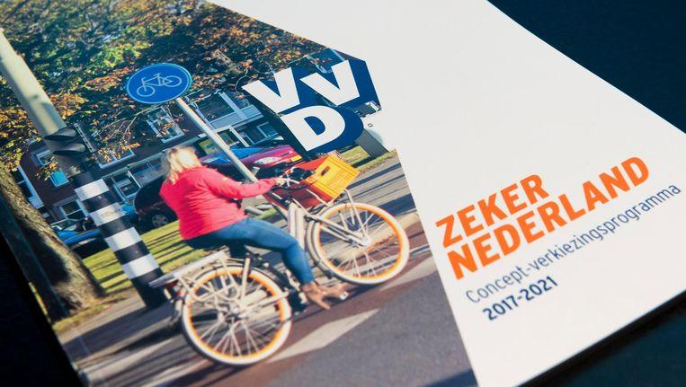 Het VVD verkiezingsprogramma. Beeld anp