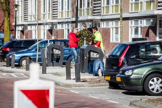 De EOD doet onderzoek aan de IJsselsteinlaan.