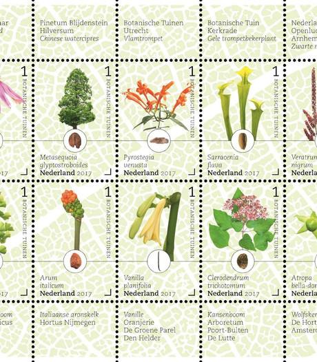 'Kroonjuweel' botanische tuin op postzegel