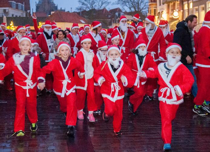 Santa Run in Zierikzee.
