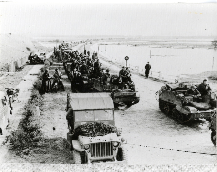 De Slag om de Schelde, nabij de Sloedam.