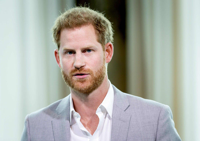 """Le prince Harry lors de la présentation du projet """"Travalyst"""" à Amsterdam ce mardi 3 septembre."""